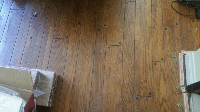 Leveling Wood Subfloor Engineered Wood Buckling Flooring