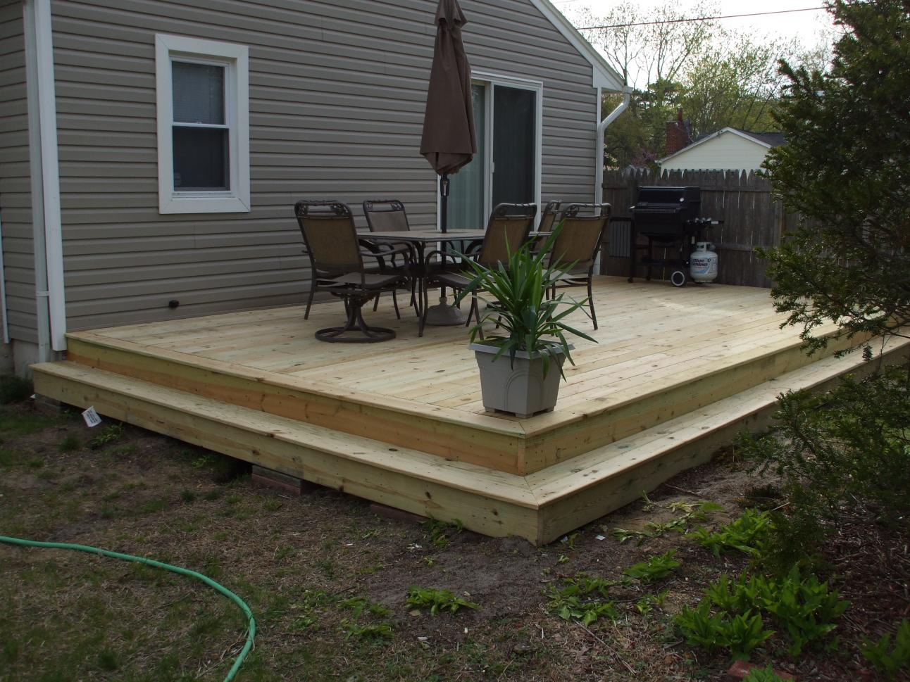 Questions about framing a ground level deck decks for Building a low profile deck