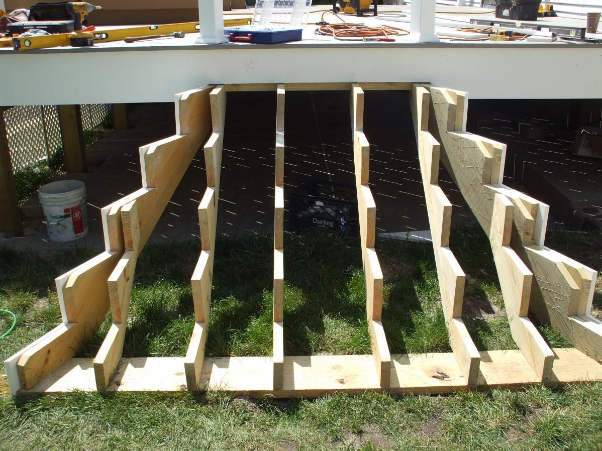 Framing Help For Inside Corner Stairs Decks Amp Fencing