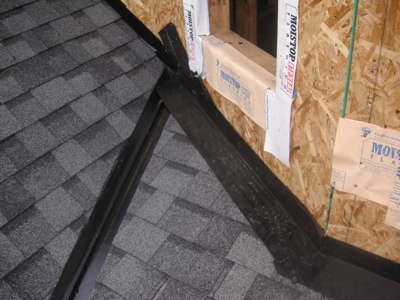 Roof To Wall Flashing On A Bay Bump Out Roofing