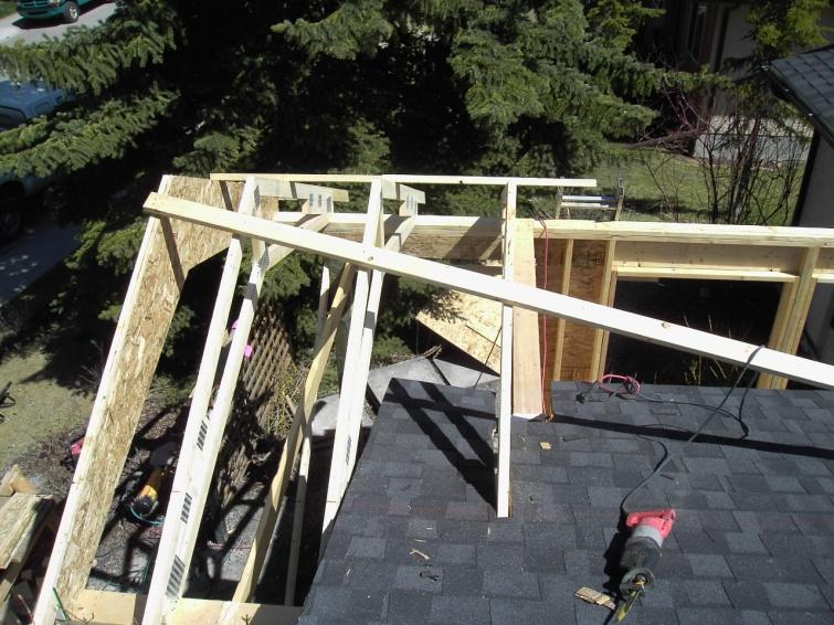 Tying A Patio Roof Into Existing House Carpentry