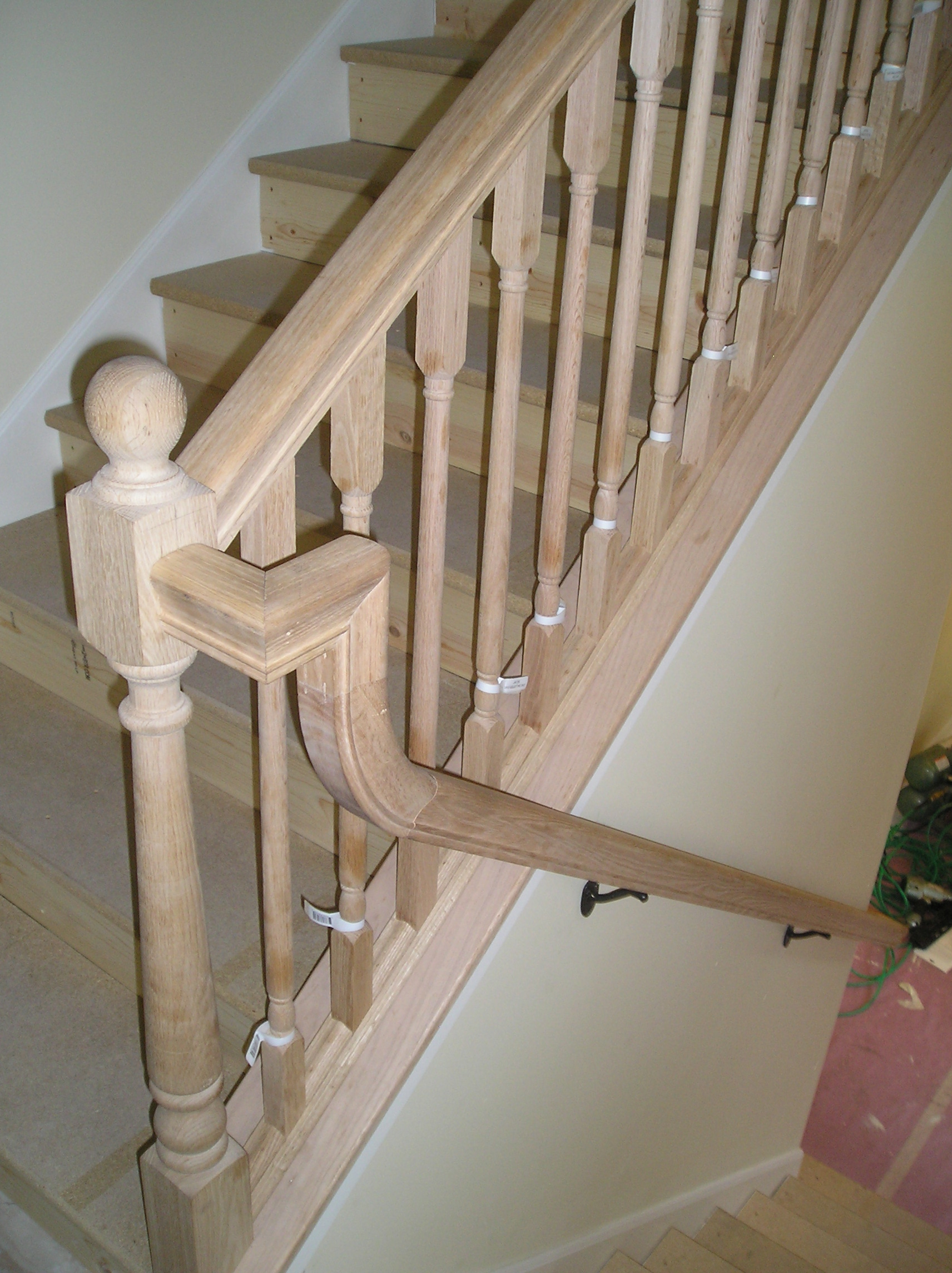 ... Stair Railing: Gooseneck Transition With Different Stair / Guardrail  Heights Picture 015.