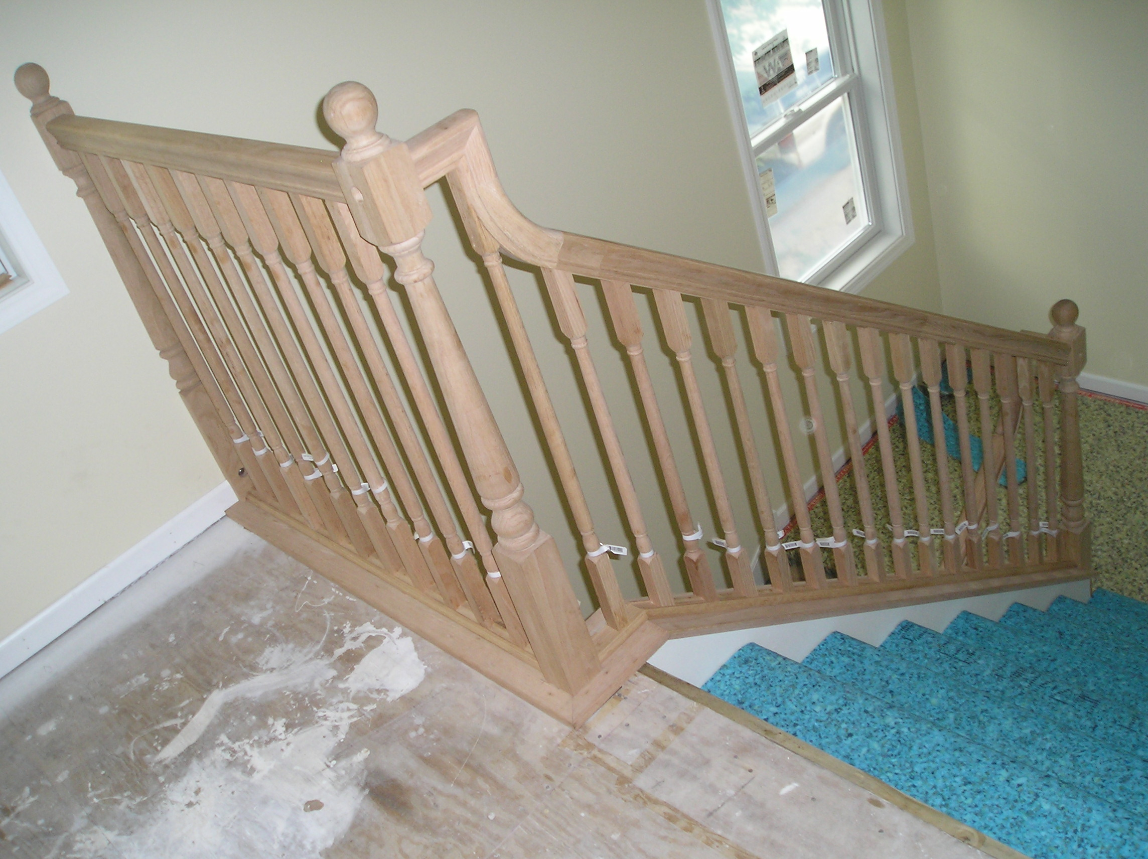 Stair Railing Gooseneck Transition With Different Stair