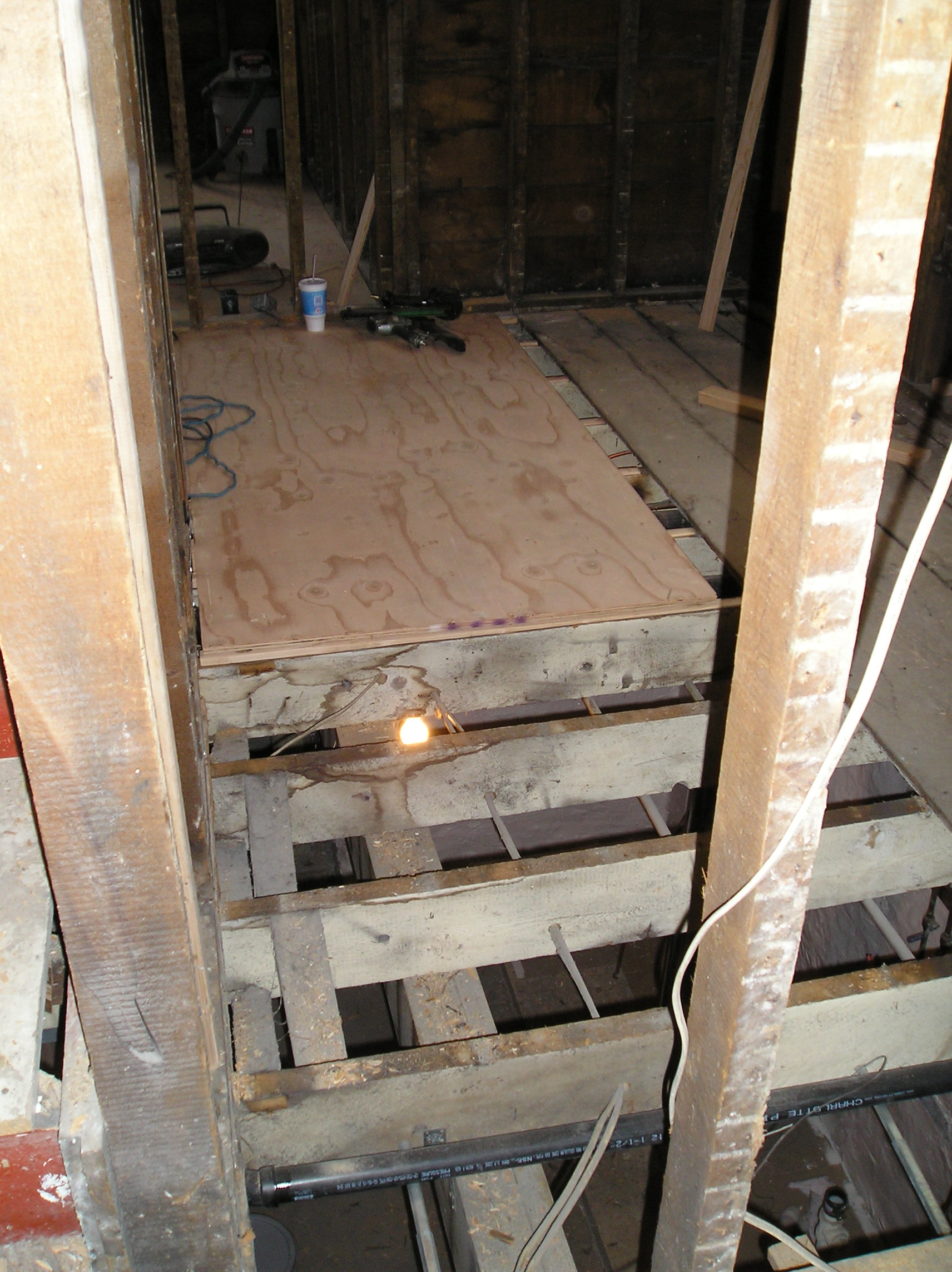 what you think about my way of leveling floor joists