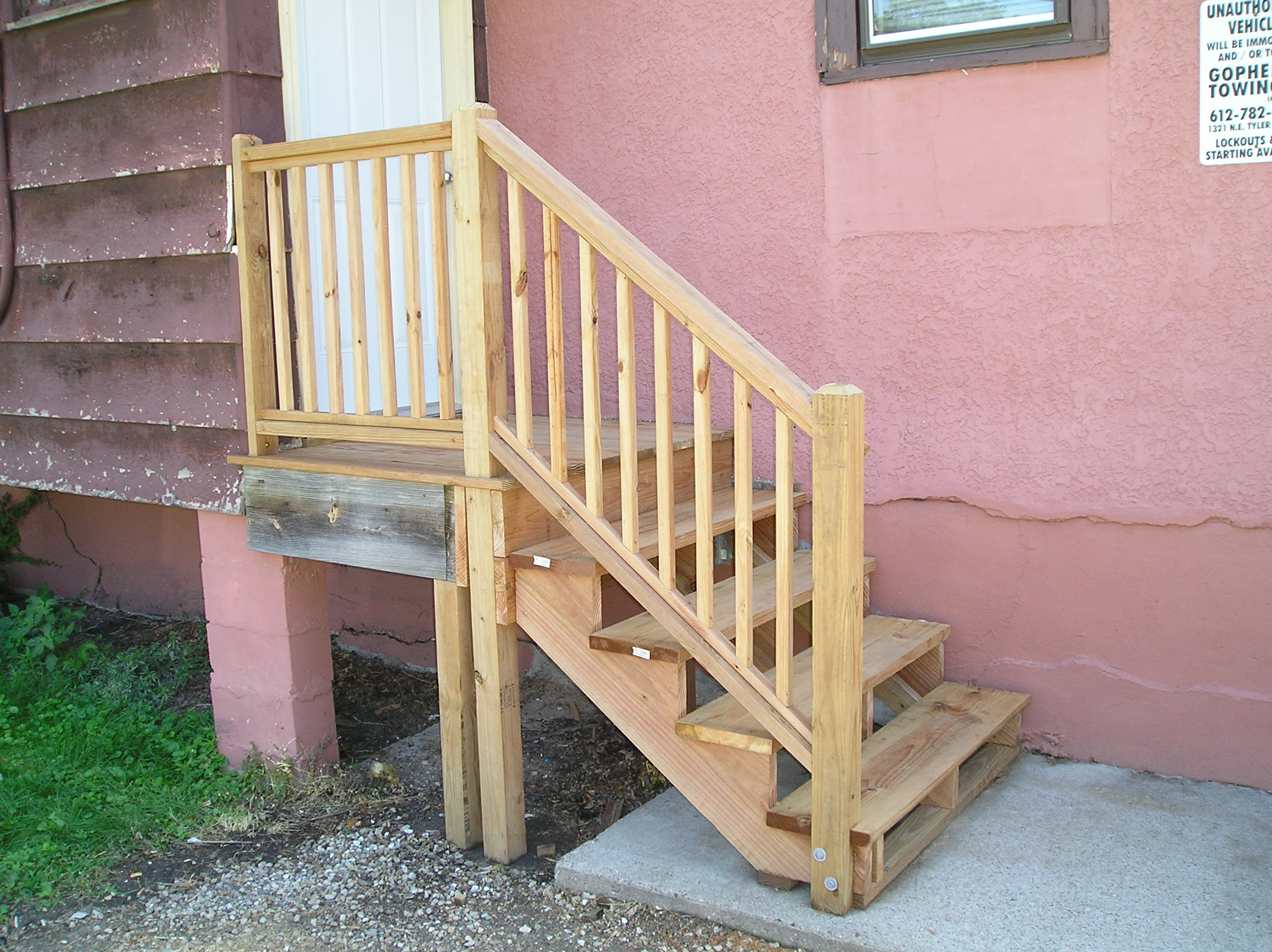 Newel Post Attachment And Notching Same