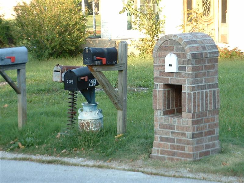Double Mailbox Post Ideas for Pinterest