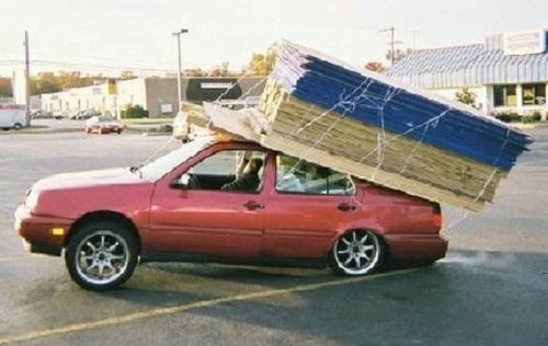 Big Box parking lot-DIY Photo of the day-plywood-jetta.jpg