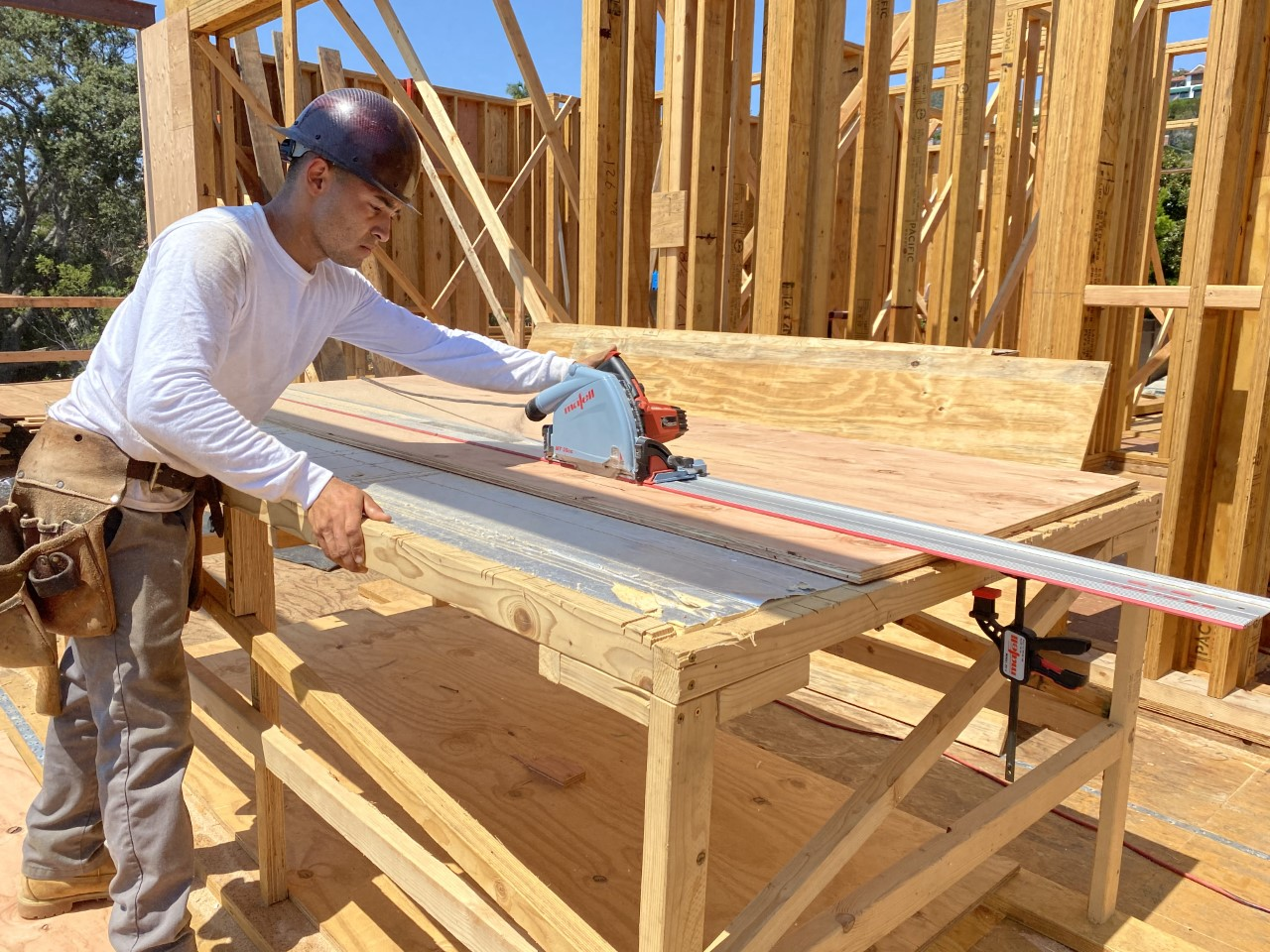 Custom Framing at Point Loma Beach House-plywood-track-saw.jpg