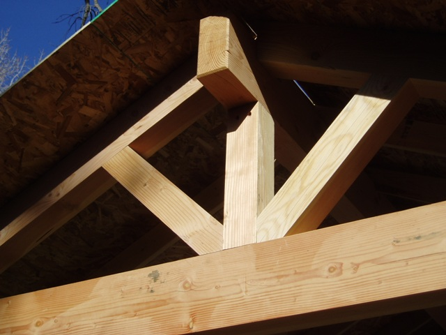Post Amp Beam Style Entry Quot Truss Quot Page 2 Framing