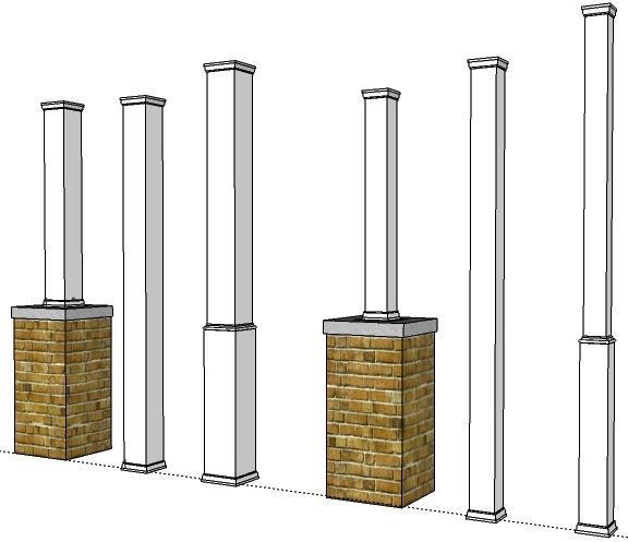 """Get 6"""" x 6"""" porch posts off the concrete-porch-post-wraps.jpg"""