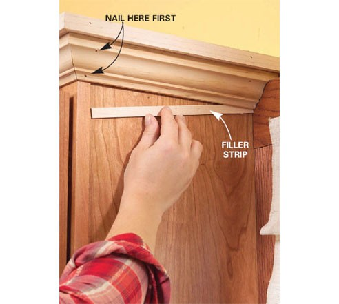 how to cut kitchen cabinet crown molding crown installation on kitchen cabinets issue finish 16926