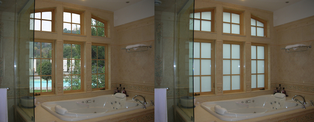 Electric Frosted Privacy Glass Window Privacy Glass Bathroom