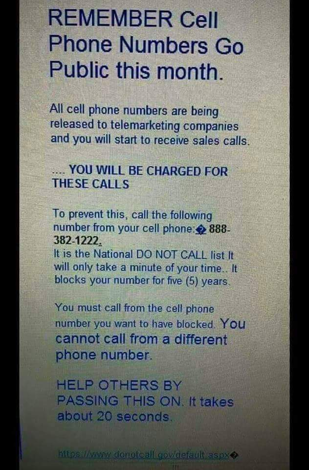 are cell phone numbers becoming public