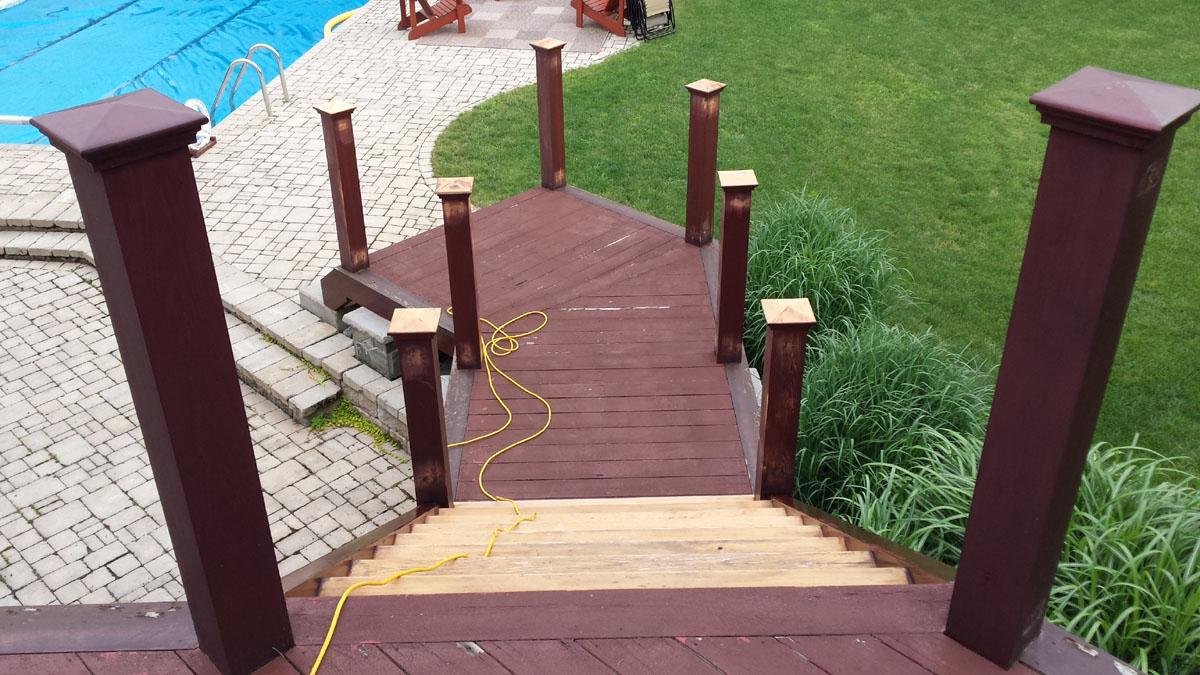 Attach Aluminum Stair Handrail To Angled Post Decks