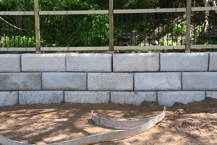 6x6 Fence Posts on Concrete Wall Blocks-redi-rock-post.jpg