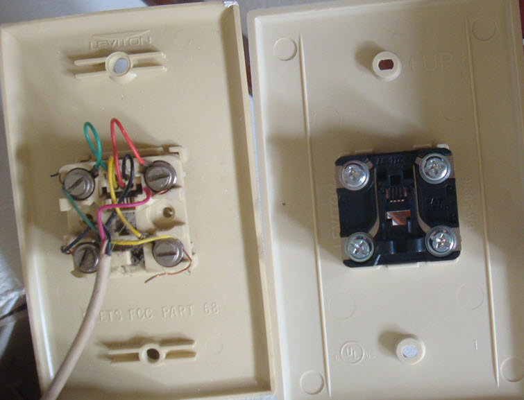 Wiring Old To New Phone Jack Coverplate - Electrical ... on wall phones, phone jack thermostat, microphone wiring, telephone jack installation, phone jack installation, phone jack diagram, phone wire, phone jack terminations, phone cord, wireless phone jack, home wiring, phone jack dimensions, phone line, install telephone wiring, phone jacks types, phone jack colors, phone jack lighting, telephone jacks, speaker jacks, dryer wiring, light switch wiring, phone jack outlet, car stereo wiring, phone jack voltage, phone problem, phone cable, phone repair, telephone wiring, phone connection, phone box, phone plug, phone jack for wall, outlet wiring, phone jack electrical,