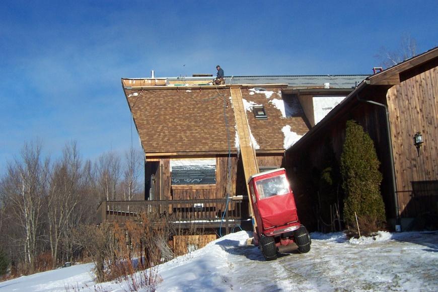 Homemade Shingle Roof Hoist Tools Amp Equipment