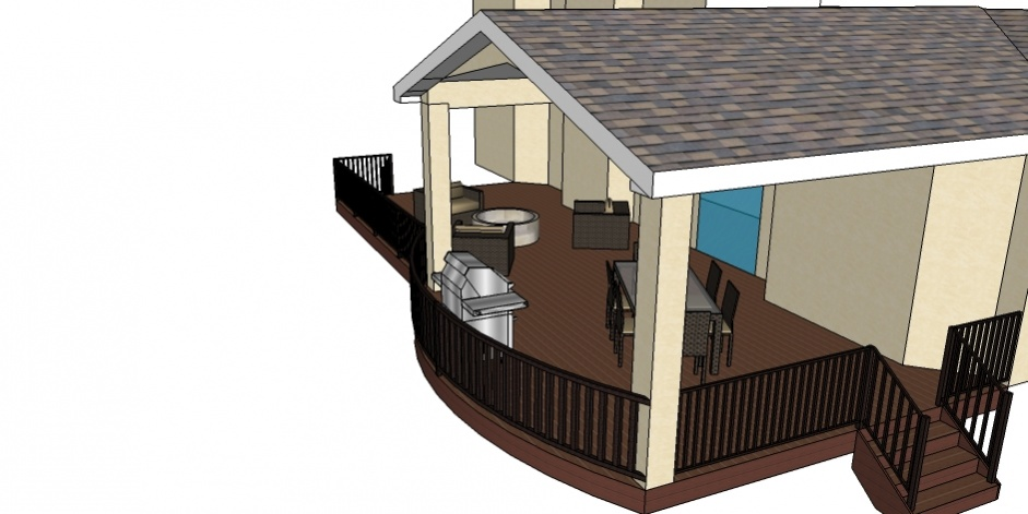 Sketchup deck guys architecture design contractor talk for Sketchup deck design