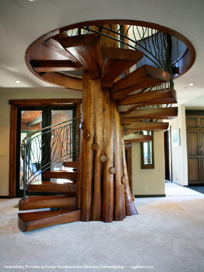 Timber Spiral Staircase Rustic_spiral_wood_stairs Sm