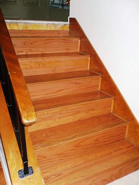 Bon How I Install Refacing Solid Wood Stairs Flooring Picture Post