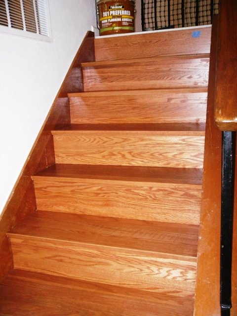 Elegant ... How I Install (refacing) Solid Wood Stairs Sam_1457 ...