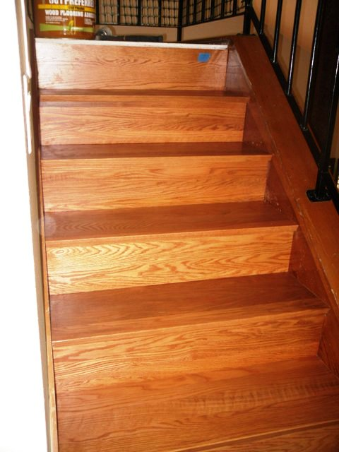 ... How I Install (refacing) Solid Wood Stairs Sam_1458