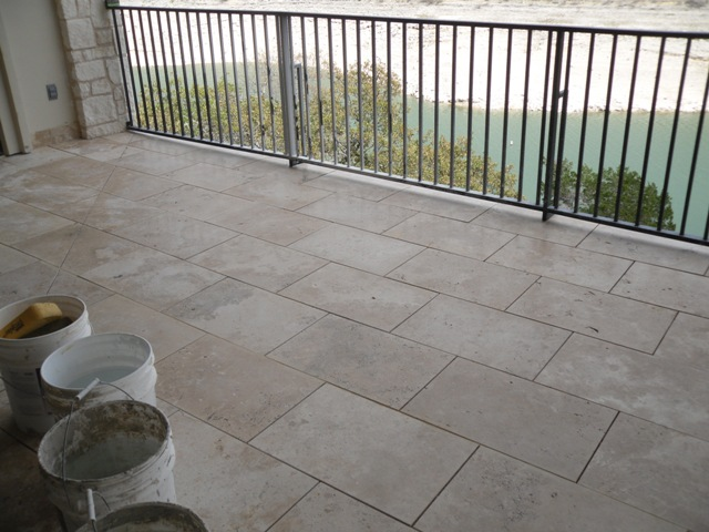 Outside Tile On Upper Porch Sloped Tiling Contractor