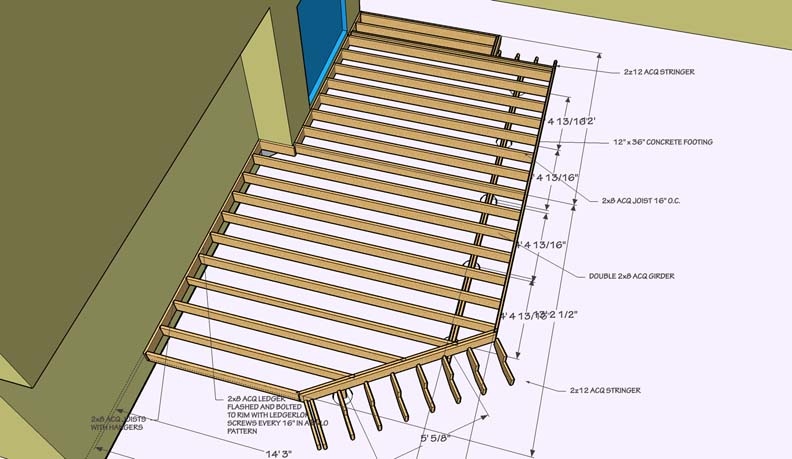 Sketchup for decks decks fencing contractor talk for Sketchup deck design
