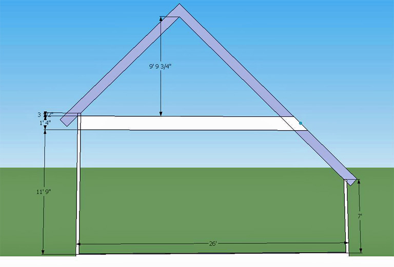 Saltbox garage roof frame framing contractor talk Saltbox garage plans