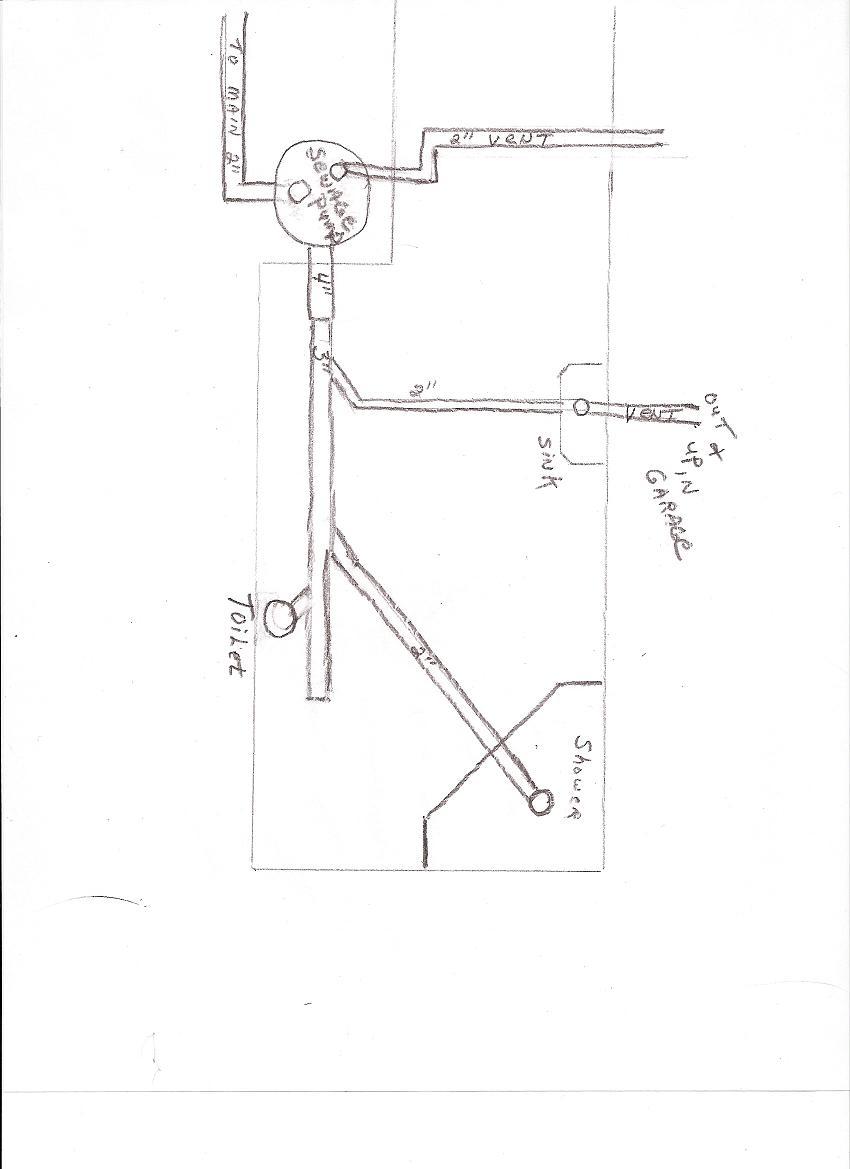 basement bathroom - plumbing