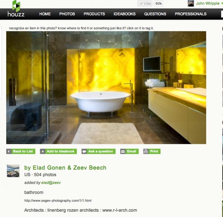 By Elad Gonen: Backlighting Onyx In A Shower