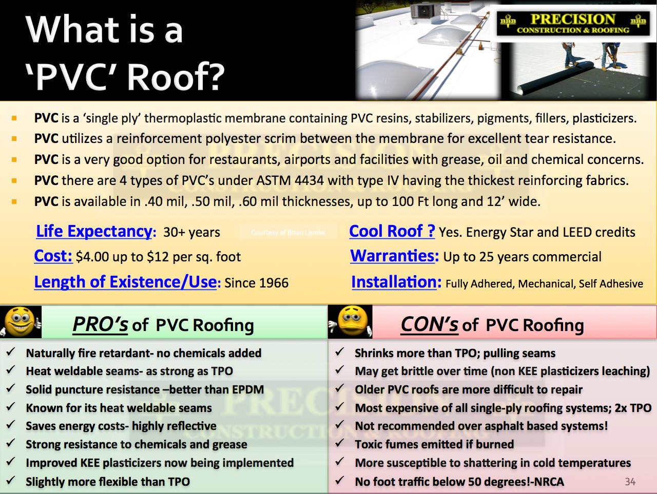 Commercial Roof Tpo Vs Pvc Vs Modified Bitumen Roofing