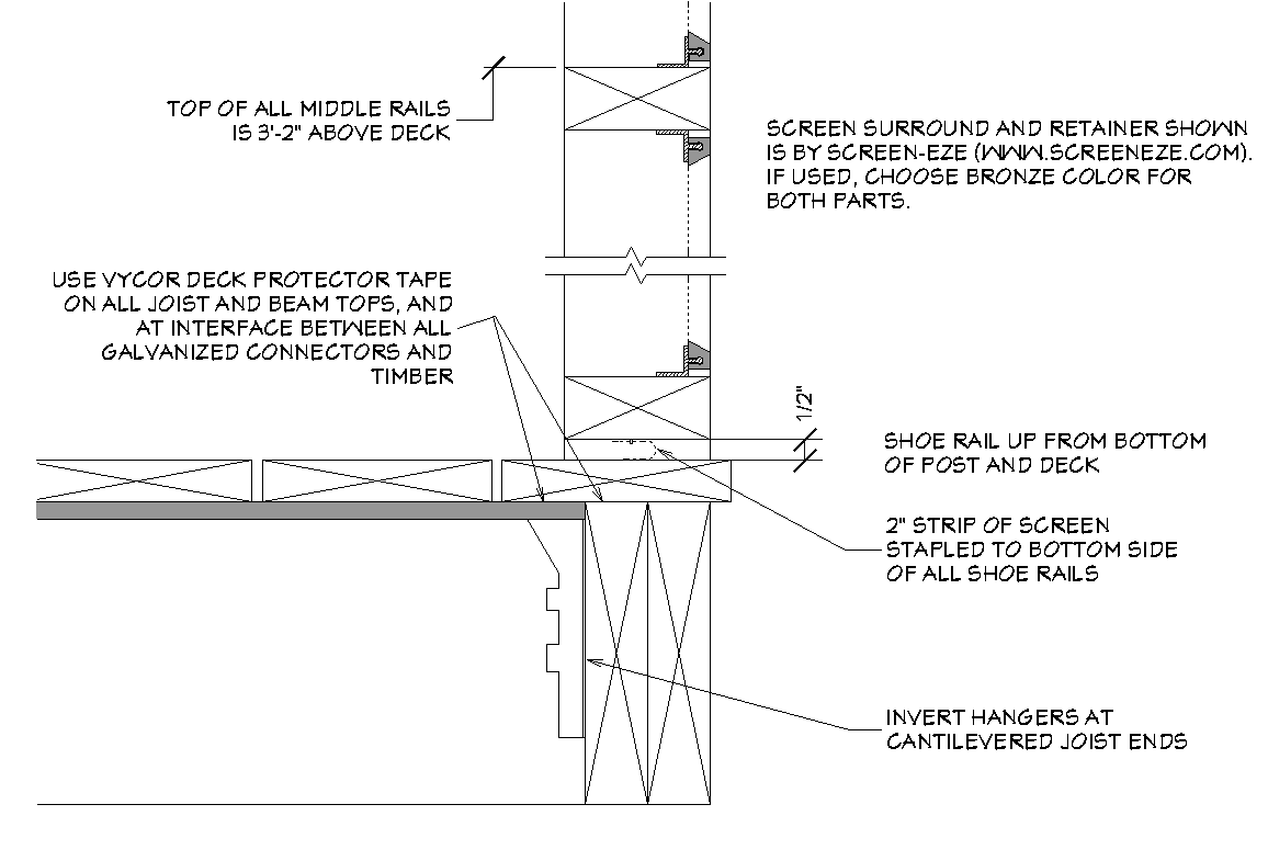 Screened porch frame design architecture design for Screen porch construction plans