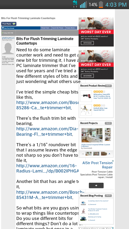 Cant Reply Because Of Ads - Page 2 - Site Feedback and