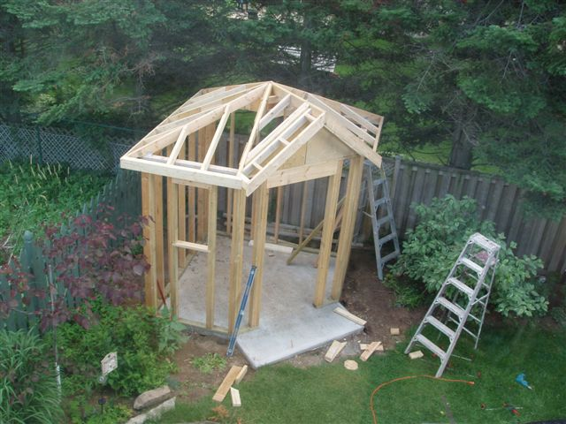 Framing A Modified Pyramid Roof Without Trusses General