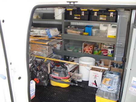 van shelving vehicles contractor talk. Black Bedroom Furniture Sets. Home Design Ideas