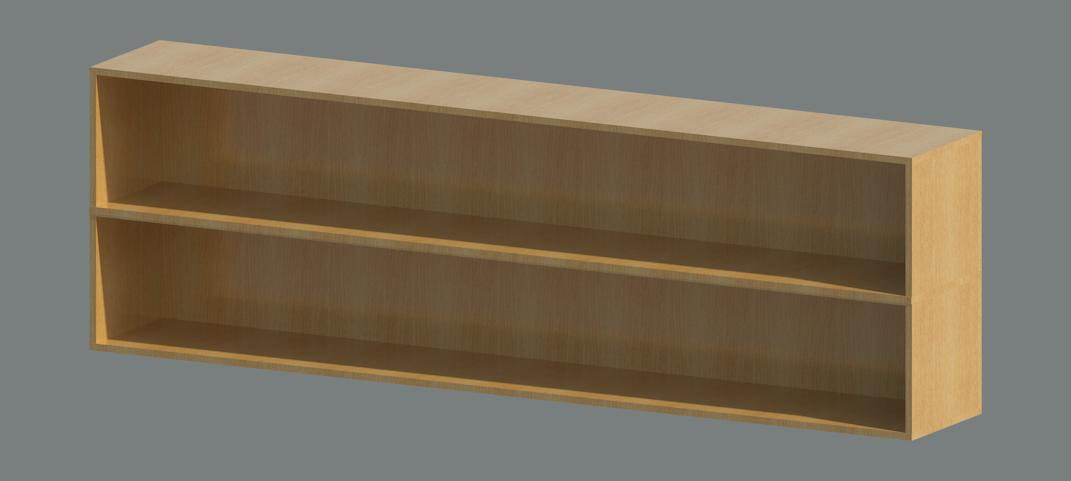 Why not build a shelf like the one I rendered below and then ...