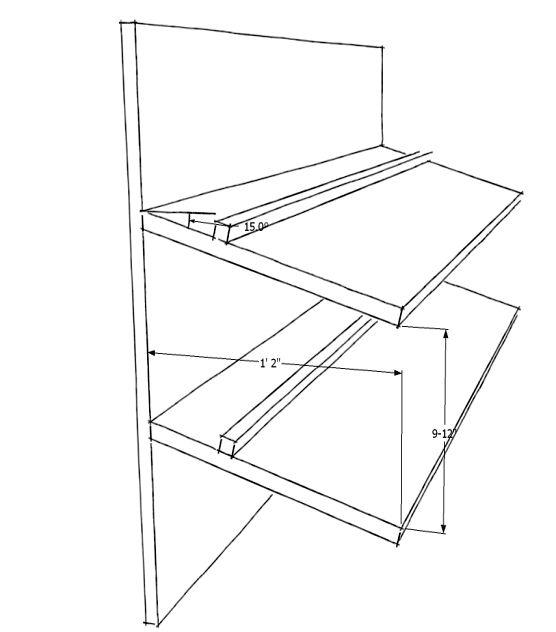 angled shoe rack plans