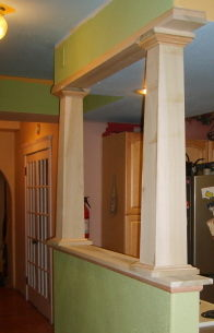 Bookcase Half Walls With Columns Carpentry Picture Post