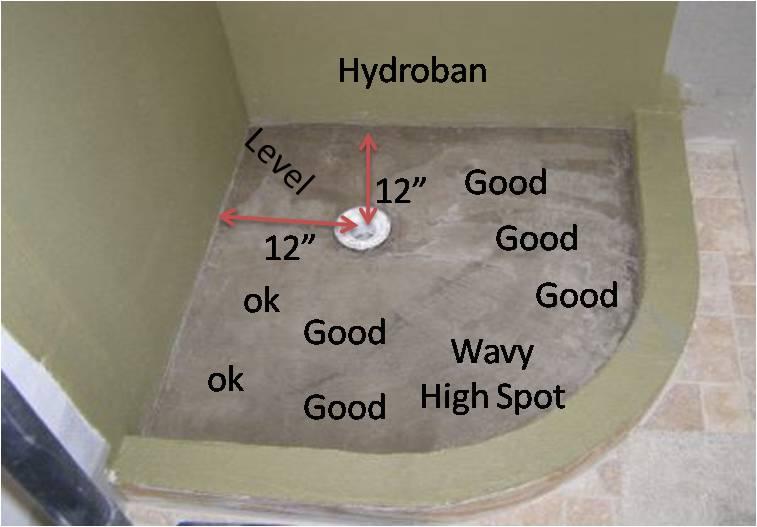 Custom Shower Pan Slope? Shower Floor Pic
