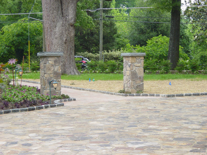 Driveway Entry Pillars : Driveway columns masonry contractor talk