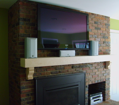 Fireplace Mantel With Flatscreen TV - Finish Carpentry ...