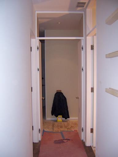 Superb Concealed Closet Door Site Built Jamb Transom Door Hung