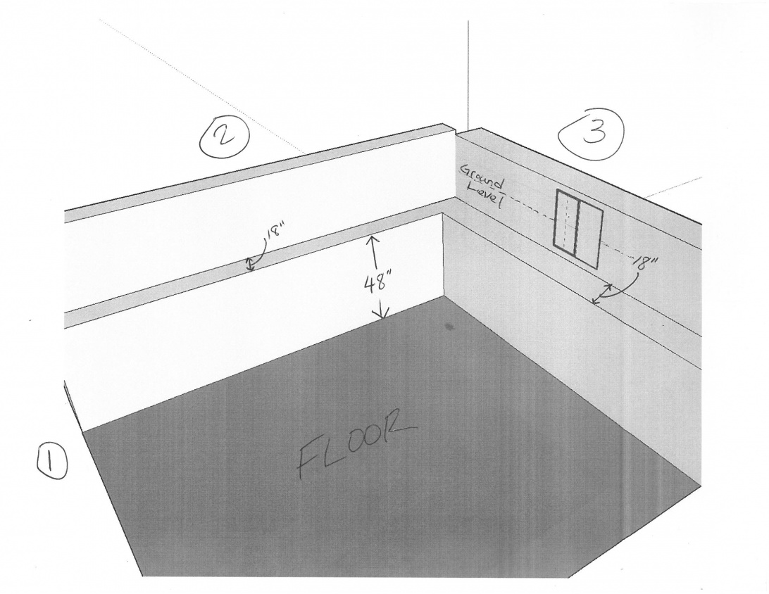 Basement Framing Ideas For Foundation With Two Different Thicknesses