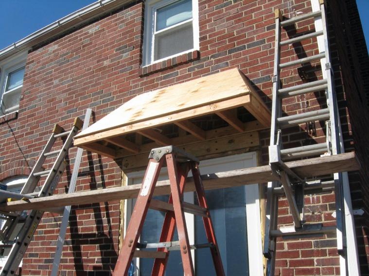 ... Back door overhang-sladek-038a.jpg. \  & Back Door Overhang - Carpentry - Contractor Talk