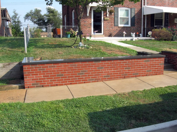 Waterproofing Of Garden Retaining Wall With Stucco Masonry