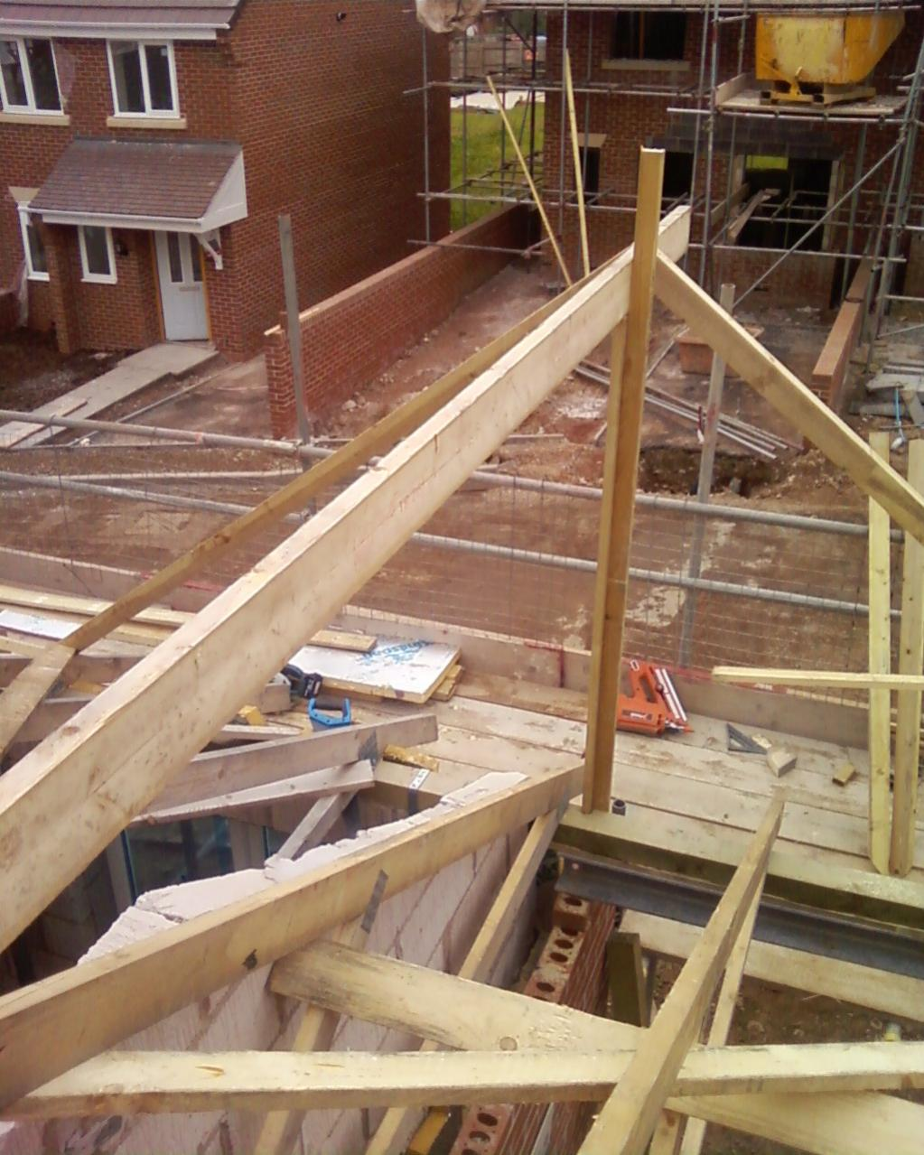 A Small Cut Dormer Roof From The UK - Carpentry Picture ...