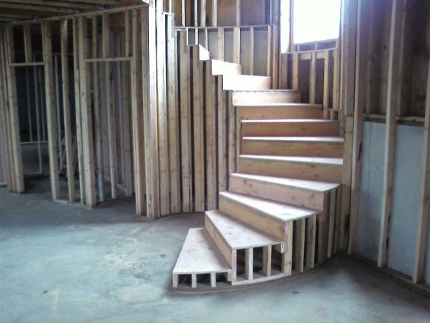 how to build an outdoor wooden spiral staircase