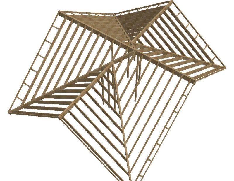 Hybrid Roof Frame Design Trusses And Sticks Framing