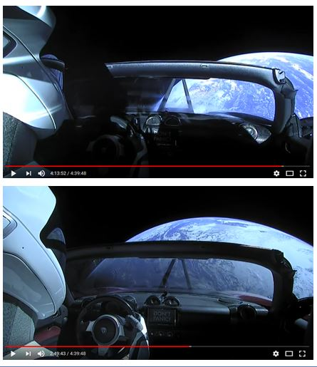 Live view Elon musk Tesla car in space-sun-reflect.jpg